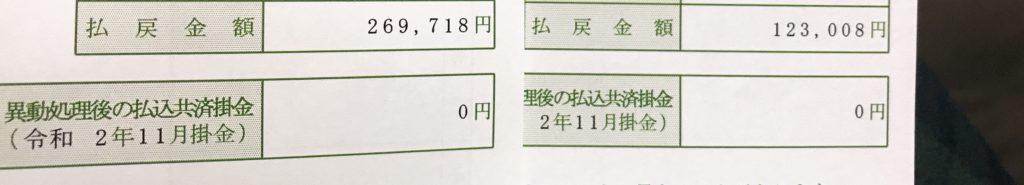 JA共済返戻金額詳細(生命&医療保険)