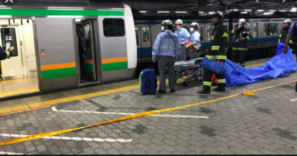 東海道線品川駅〜川崎駅で人身事故!画像