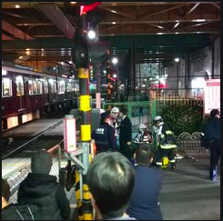 阪急京都本線崇禅寺駅~淡路駅で人身事故!画像