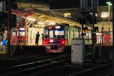 京成本線堀切菖蒲園駅〜お茶花屋駅で人身事故!画像