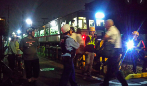名鉄瀬戸線旭前駅〜尾張旭駅で人身事故!画像